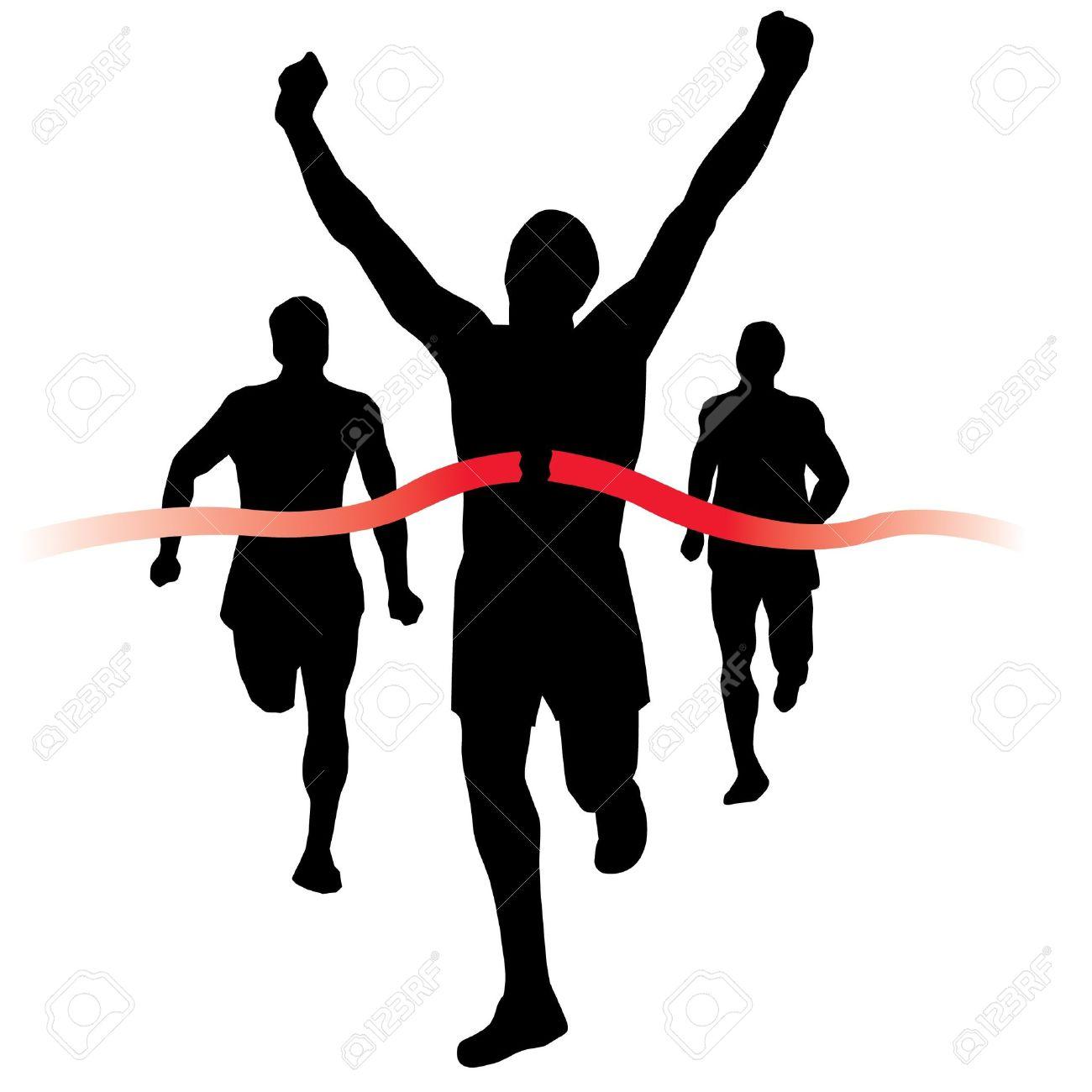 Clip Art Runners Finish Line .-Clip Art Runners Finish Line .-3