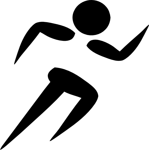 Clip art running clipart image