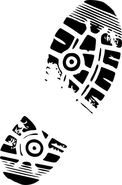 clip art running shoes | Running Shoe Print For Track clip art - vector clip art