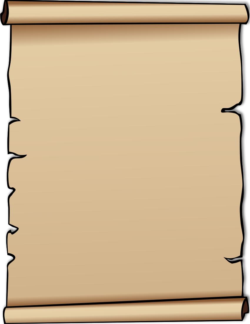 Clip Art Scroll #16188-Clip Art Scroll #16188-1