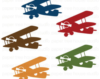 Vintage Airplane Clip Art Cli