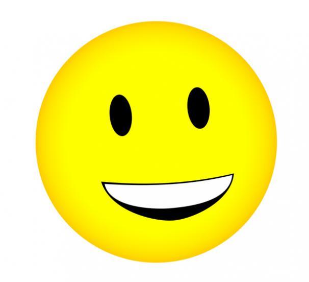 Clip art smiley face emoticons .