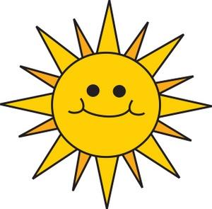 Clip Art Smiling Sun