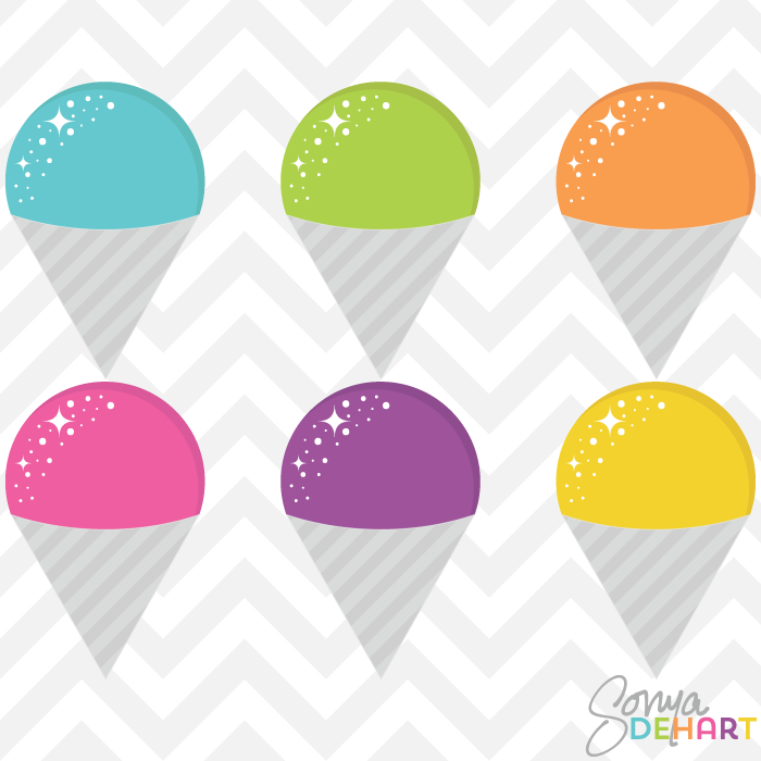 Clip Art Snow Cone Vectors