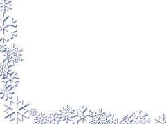 Clip Art Snowflake Border Cli - Snowflake Clipart Border