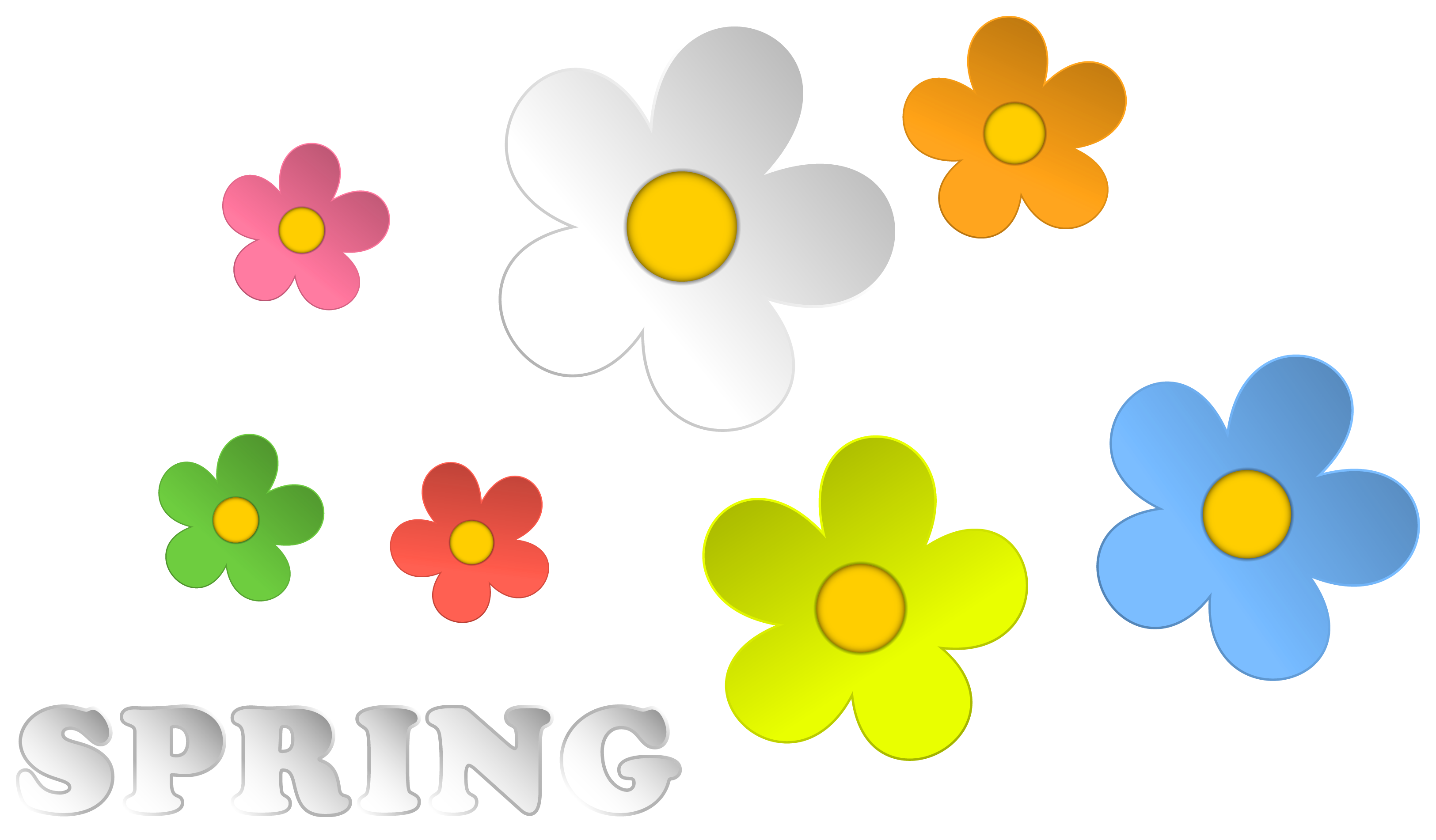 Clip Art Spring Flowers | Clipart library - Free Clipart Images