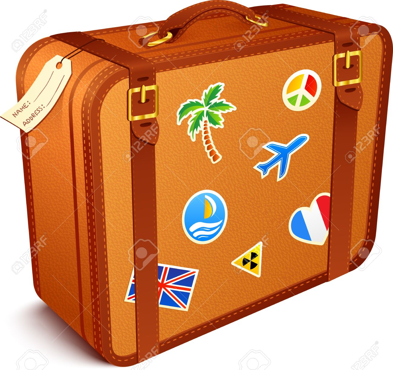 Clip Art Suitcase Clipart sui - Clipart Suitcase
