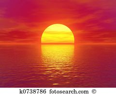 Clip Art. sunset