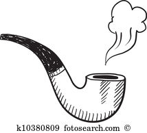 Clip Art. Tobacco pipe sketch