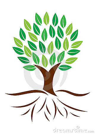 Clip Art Tree With Roots Tree - Tree Roots Clipart