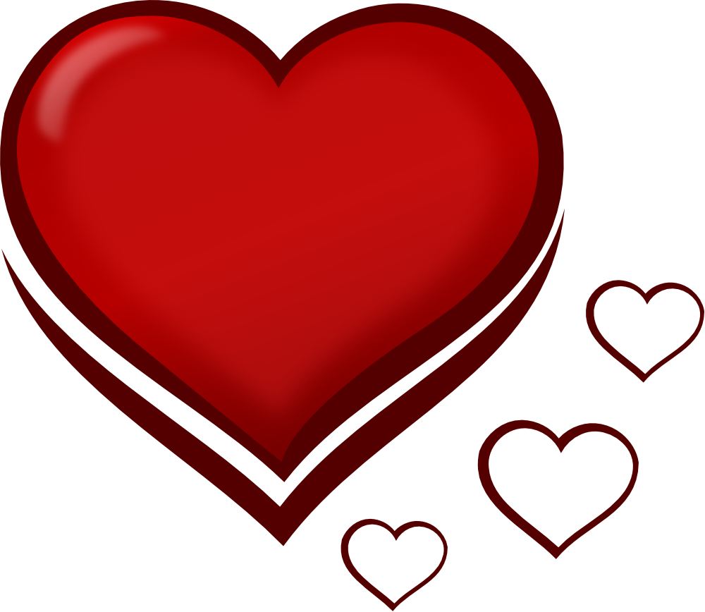 Clip Art Two Hearts | Clipart .