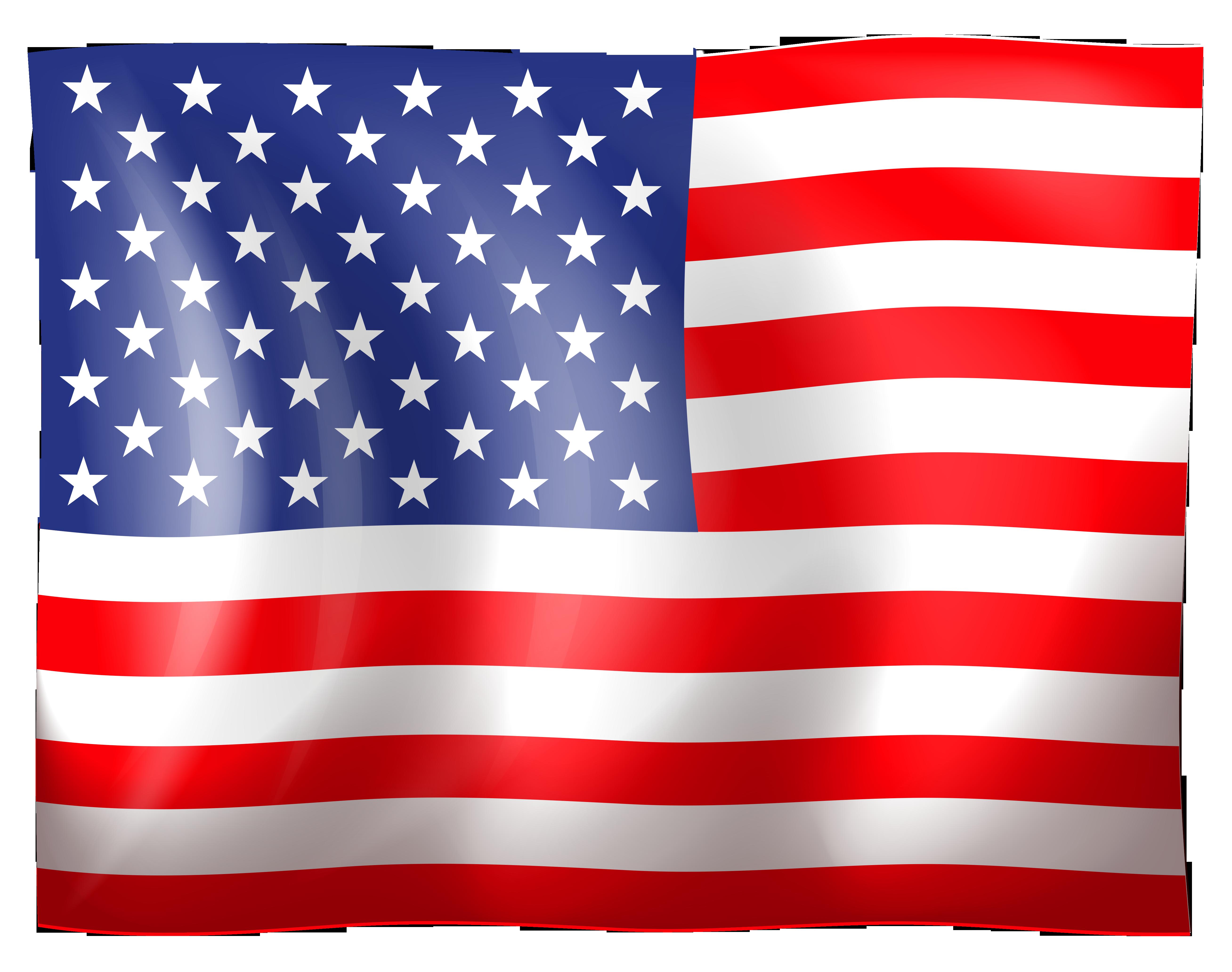 Clip Art Us Flag Clip Art han - Usa Flag Clip Art