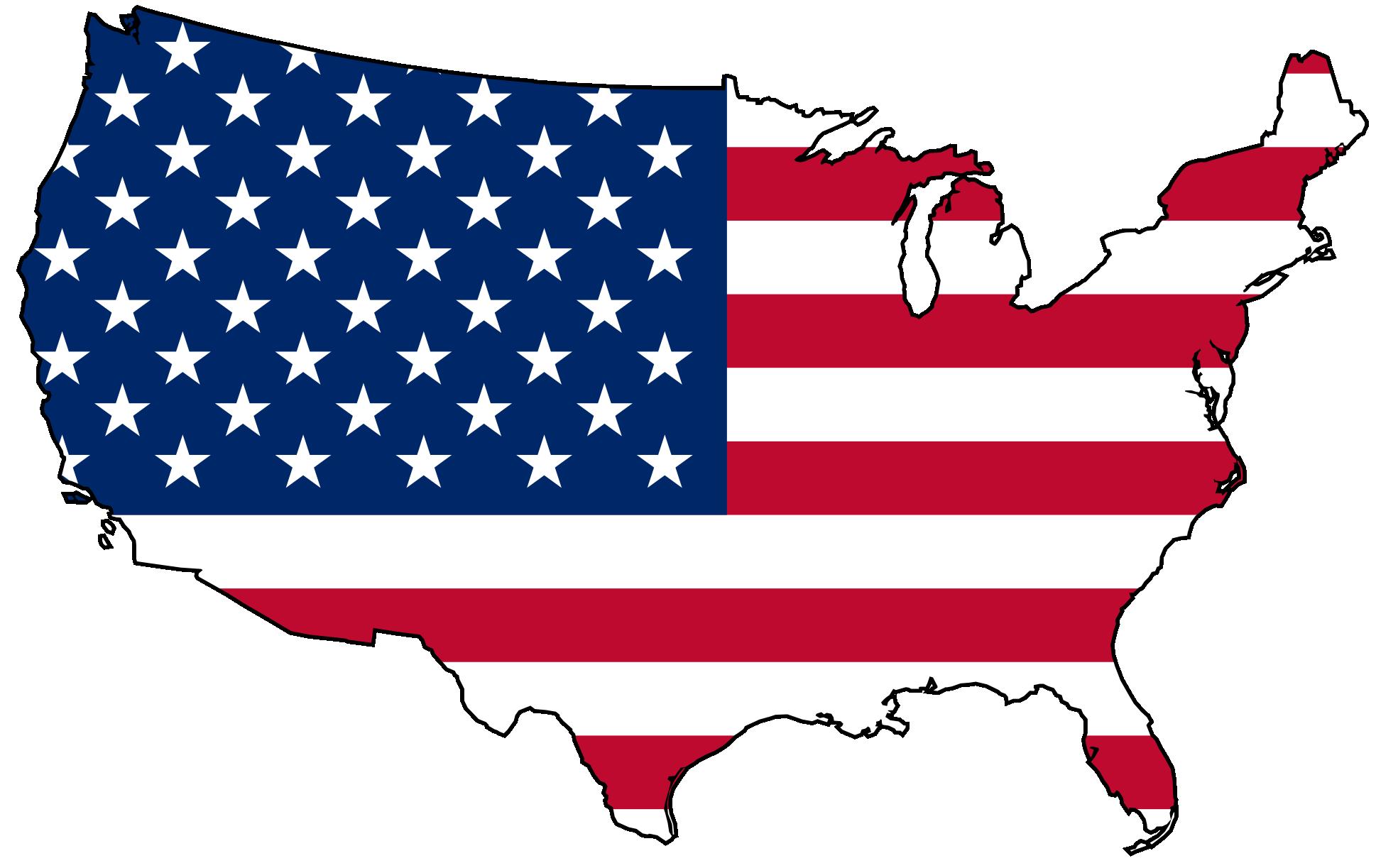 Clip Art Usa Flag Map Clipart .