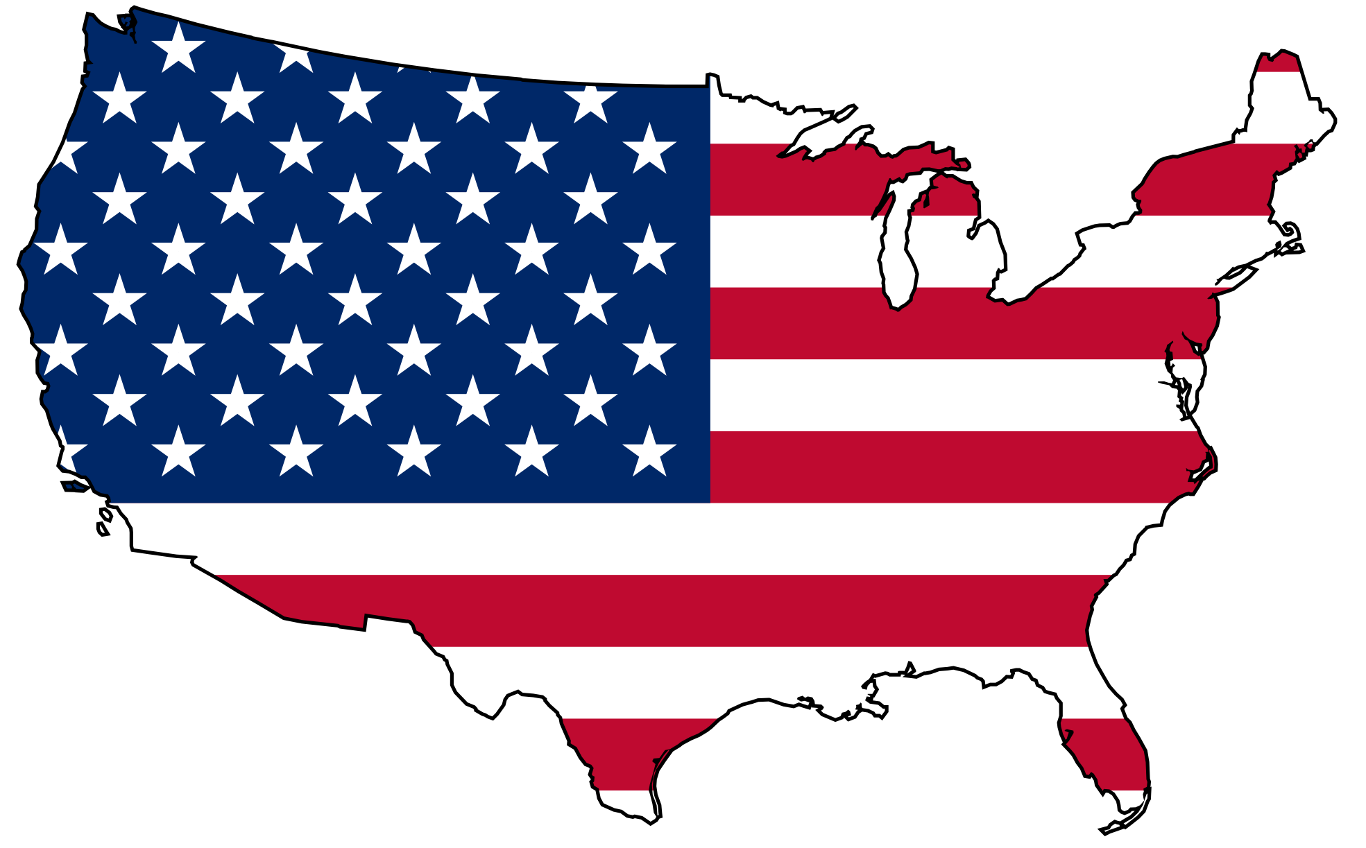 Us Map With States Clip Art A