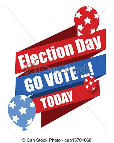Clip Art Vector Of Go Vote Election Day Banner Election Day Go