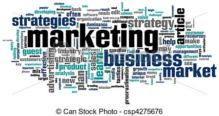 Clip Art Vector Of Marketing A Word Cloud With Marketing Related