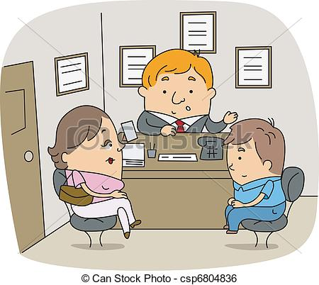Clip Art Vector Of School Counselor Illustration Of A School