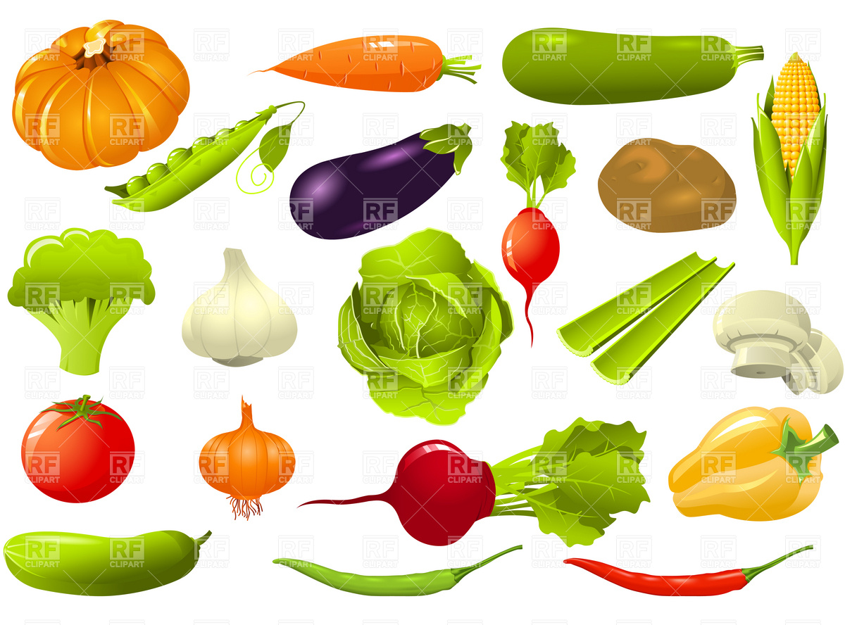 Clipart Of Vegetables
