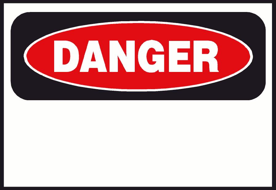 Clip Art Warning Sign