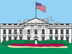 Clip Art: White House 1a Color .
