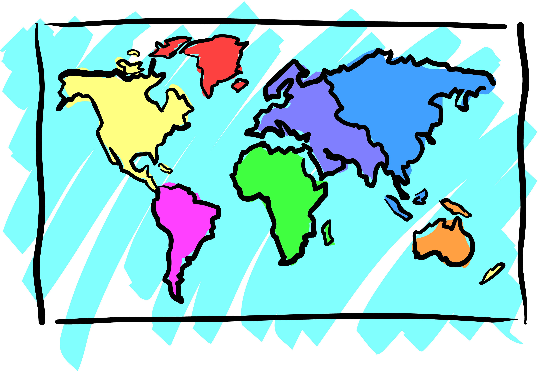Clip Art World Map Cliparts Co