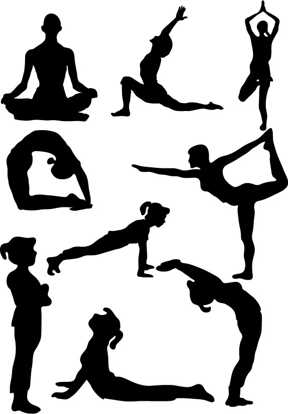 Clip Art Yoga Poses Cliparts Co