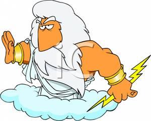 Clip Art Zeus Clipart zeus greek god clipart clipartall the of lightning