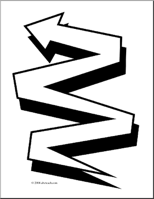 Clip Art Zig Zag Coloring Page Preview 1
