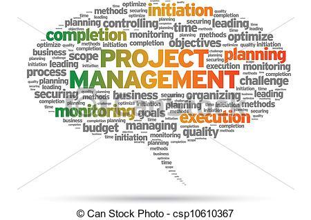 Clip Artby JohanH24/1,825; Project Manag-Clip Artby JohanH24/1,825; Project Management speech bubble illustration on  white.-2
