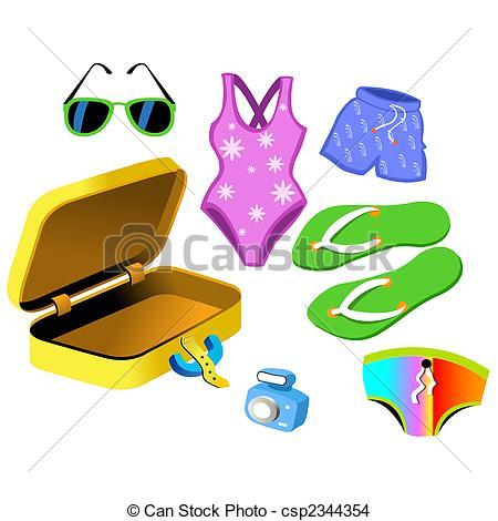Clip Artby Millisenta1/181; Bathing Suit-Clip Artby Millisenta1/181; Bathing Suits and travelling bag-13