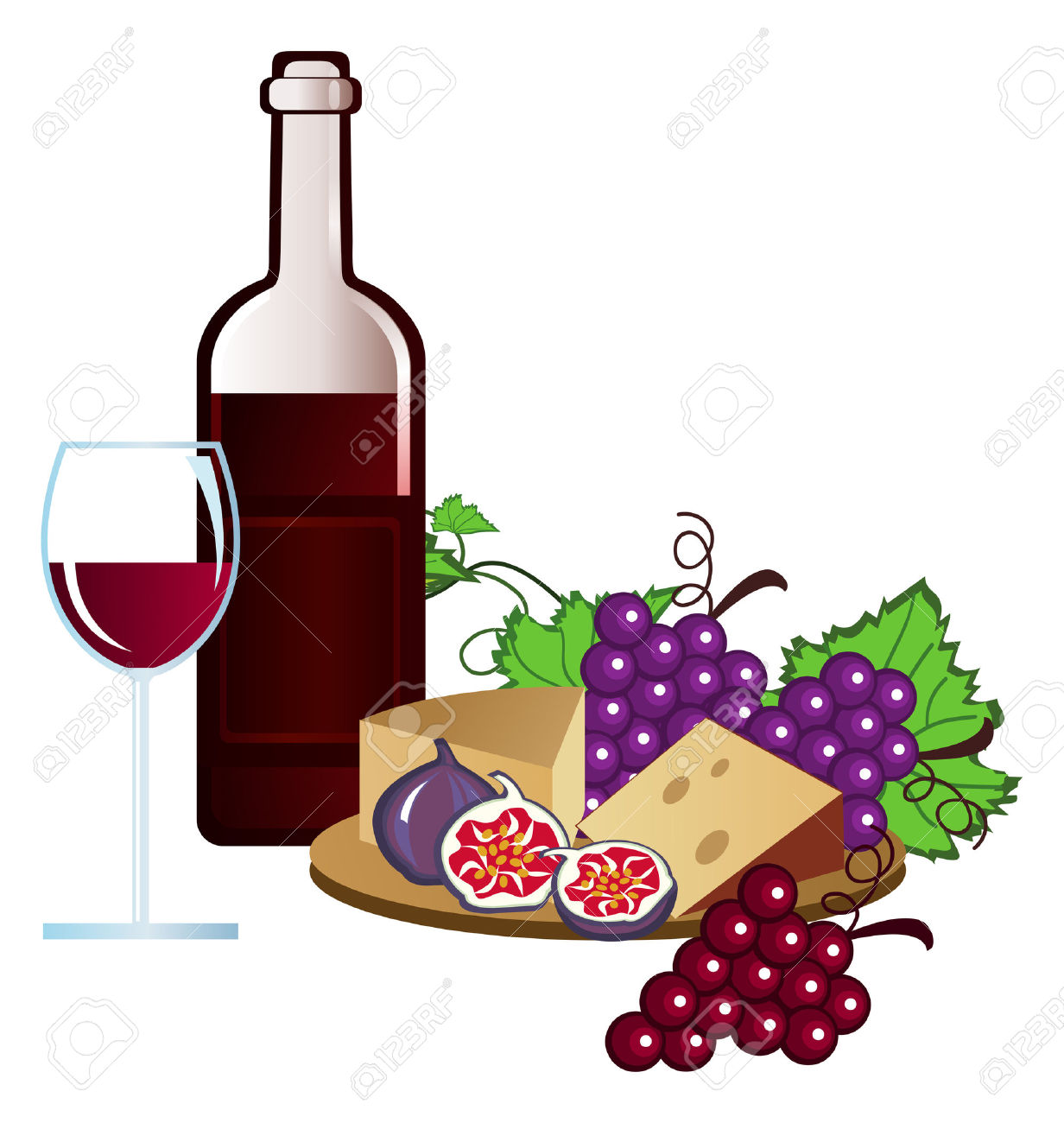 Clip-arts of wine, fruits and .-Clip-arts of wine, fruits and .-16