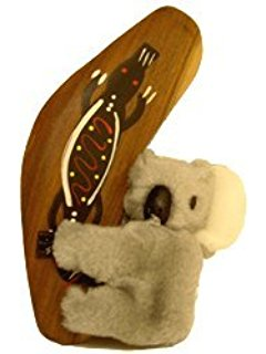 Clip Koala with Boomerang - Australian