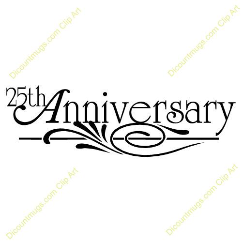 Clipart 10060 25th Anniversary Design 25-Clipart 10060 25th Anniversary Design 25th Anniversary Design Mugs-9