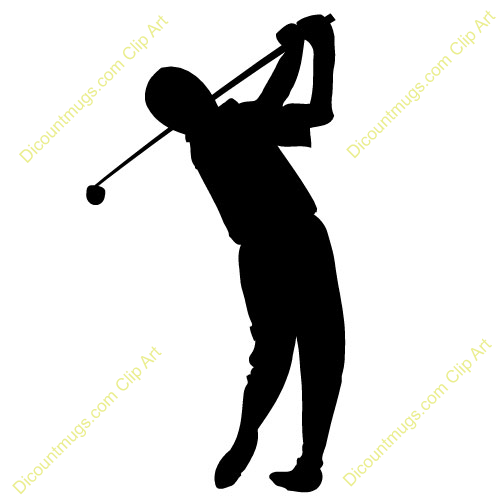 Clipart 10672 Golfer Golfer Mugs T Shirts Picture Mouse Pads