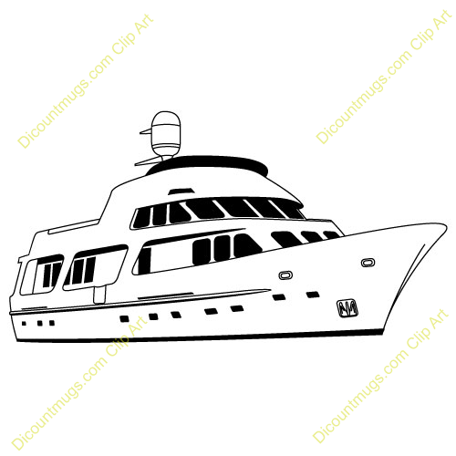 Clipart 11075 V 76 Party Yacht Mugs T Shirts Picture Mouse Pads