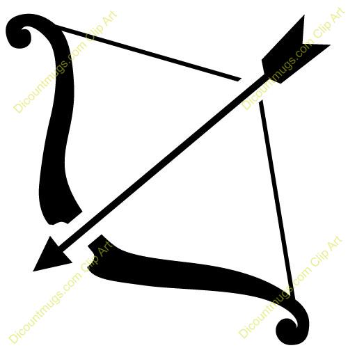 Clipart 11520 Bow And Arrow Bow And Arro-Clipart 11520 Bow And Arrow Bow And Arrow Mugs T Shirts Picture-2