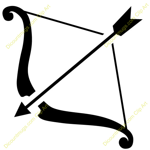 Clipart 11520 Bow And Arrow B - Clipart Bow And Arrow