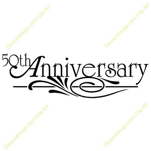 Clipart 11749 50th Anniversary Text 50th Anniversary Text Mugs T