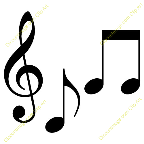 Clipart 12007 Musical Notes Musical Notes Mugs T Shirts Picture