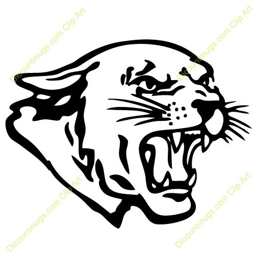 Clipart 12325 Panther Head Panther Head -Clipart 12325 Panther Head Panther Head Mugs T Shirts Picture-2