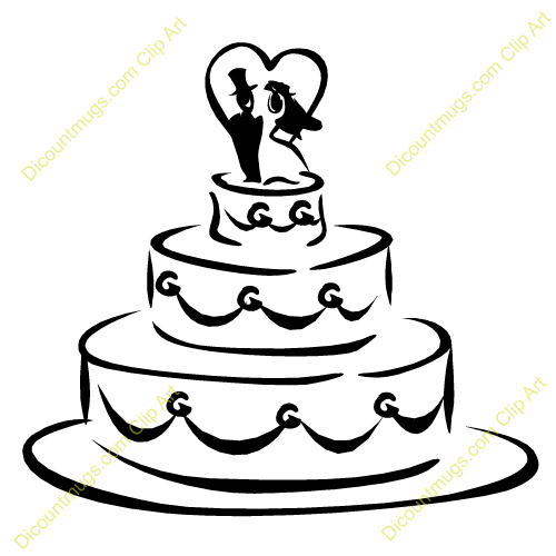 Clipart 12518 Wedding Cake Wedding Cake Mugs T Shirts Picture