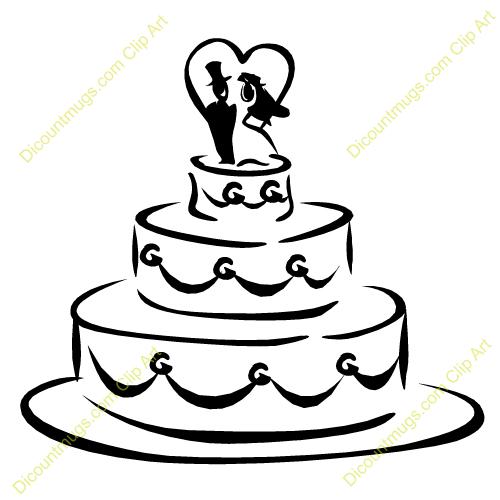 Clipart 12518 Wedding Cake Wedding Cake -Clipart 12518 Wedding Cake Wedding Cake Mugs T Shirts Picture-1