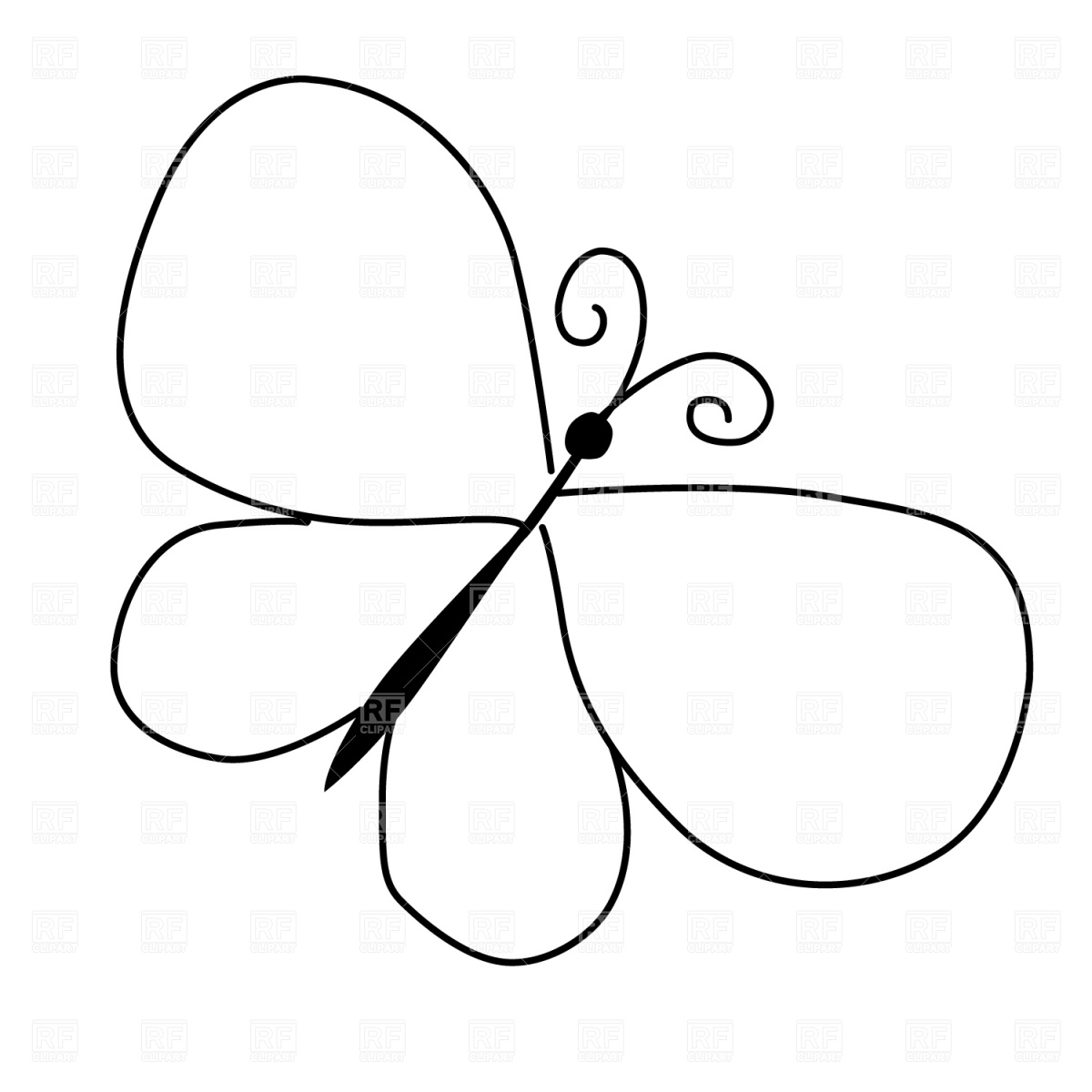 Clipart Butterfly Outline-clipart butterfly outline-4