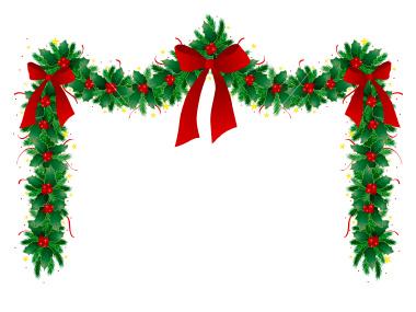 clipart christmas garland