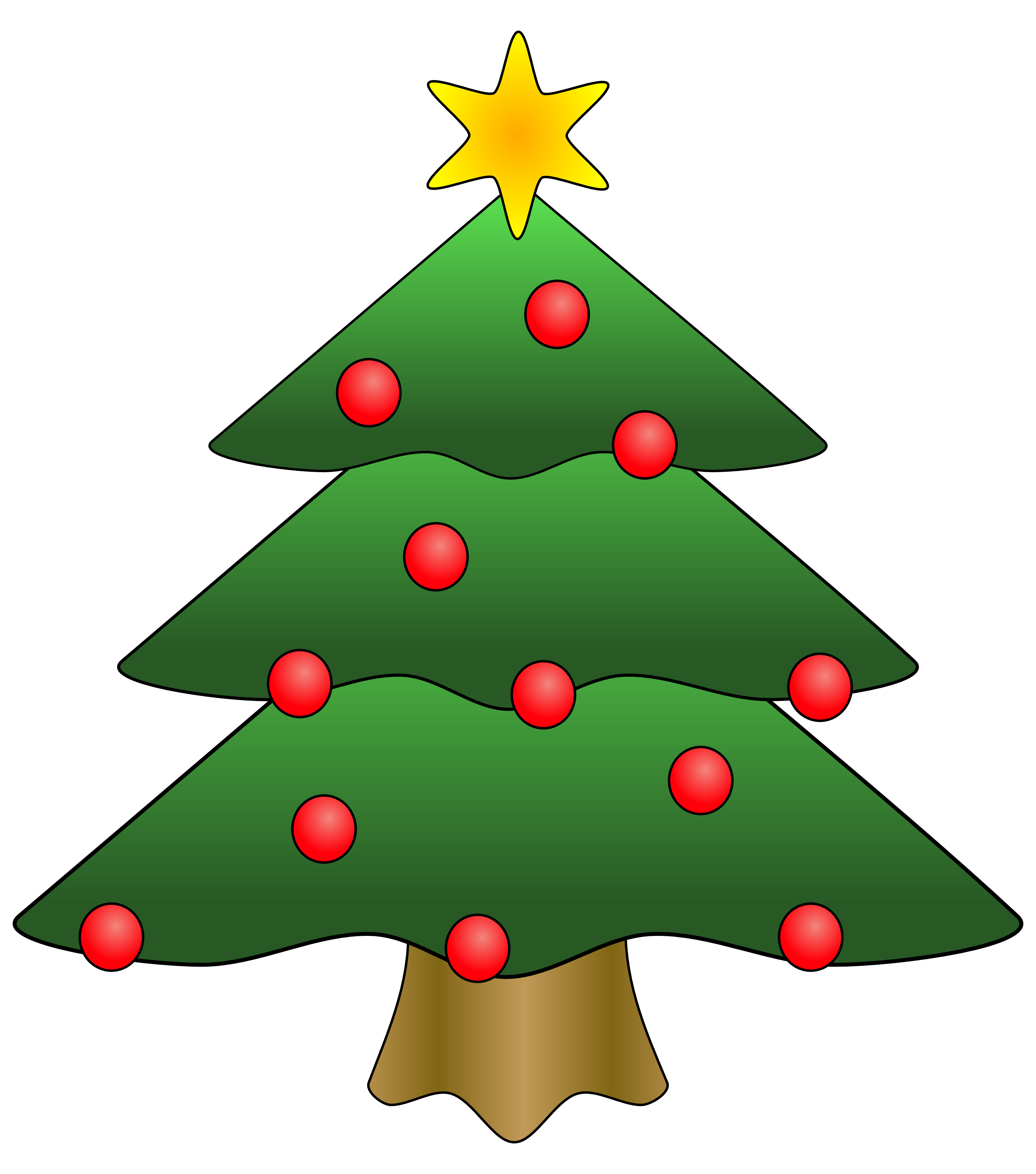 Clipart Christmas Tree With Presents-clipart christmas tree with presents-12