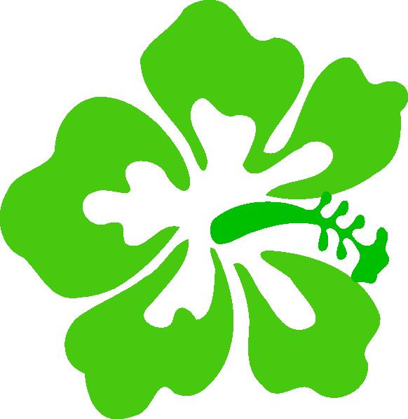 Hawaiian Flower Clip Art Bord
