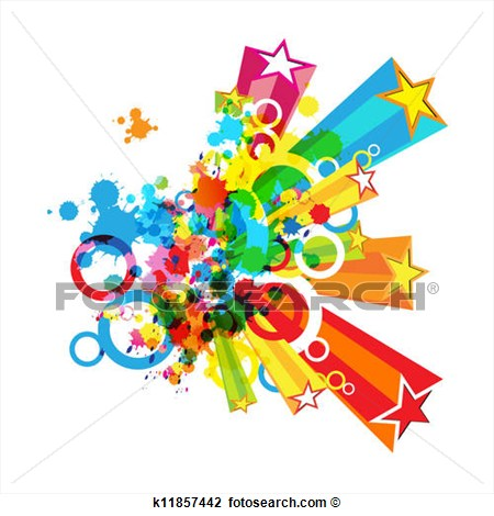 Clipart Abstract Colorful Festival Decoration Background Fotosearch