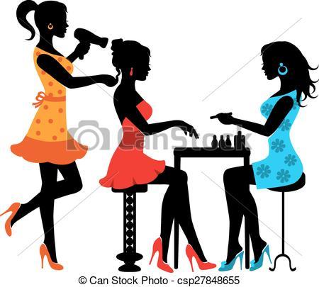Clipart - aiga beauty salon. Woman in a beauty salon .