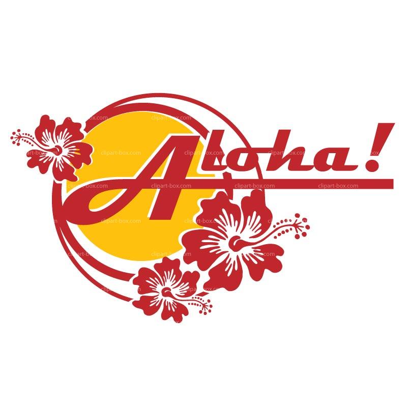 Clipart Aloha Sticker Royalty Free Vector Design