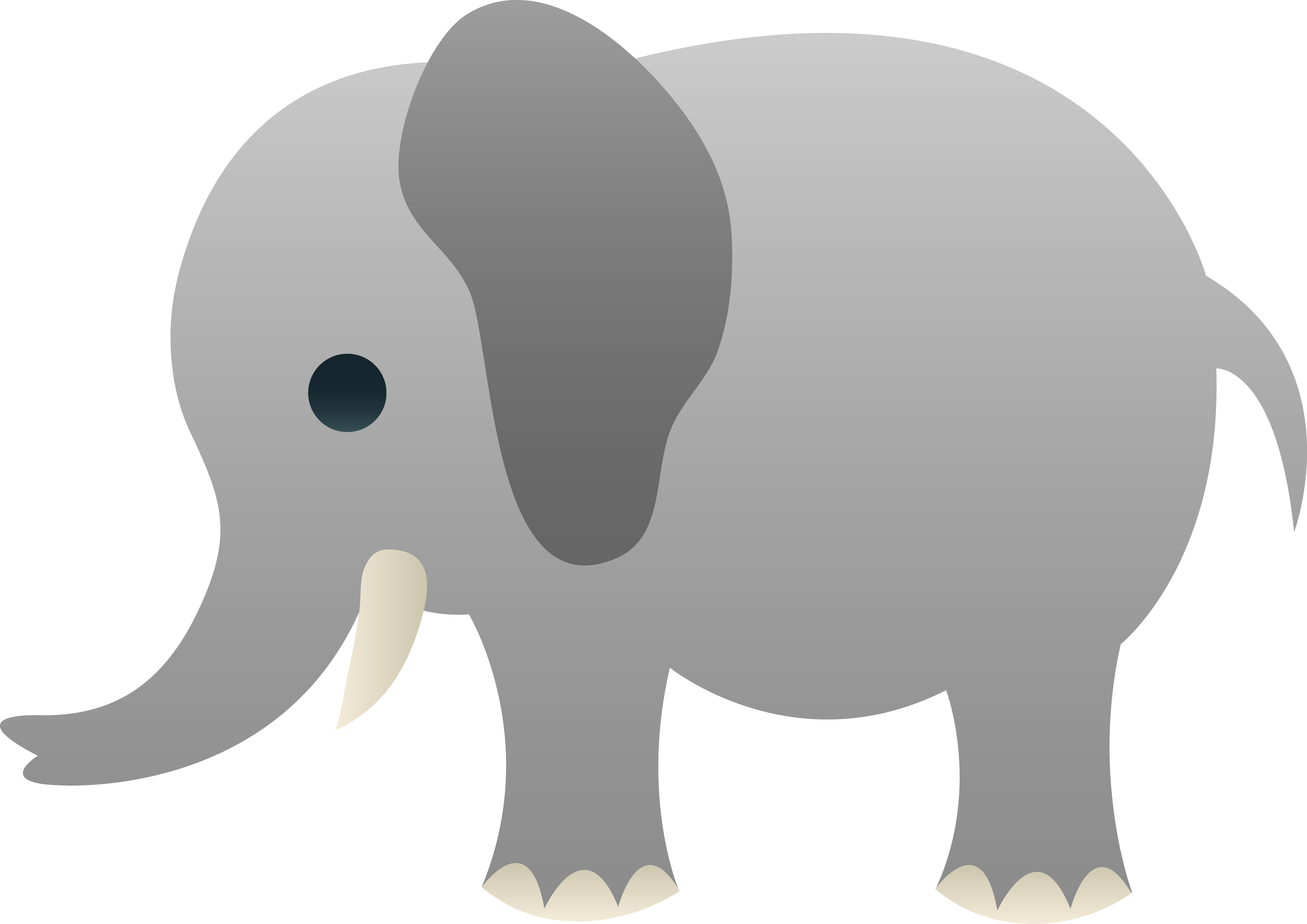 Clipart baby elephant - .